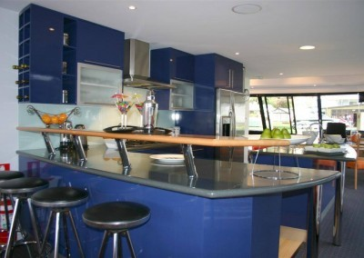Modern two pack painted > blue kitchen Mount Barker Adelaide Hills