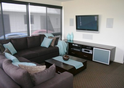 House Boats Joinery and cabinet making fit-out – new lounges and entertainment unit built and installed