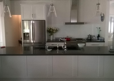 White laminate kitchen with black stone benchtop Stirling, Adelaide Hills